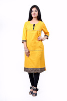 Indian Designer Women Kurti Hand Embroidered Kurta Bollywood Tunic Dress Kurta