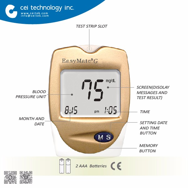 BioTechnology High Quality Digital Blood Glucose Monitor