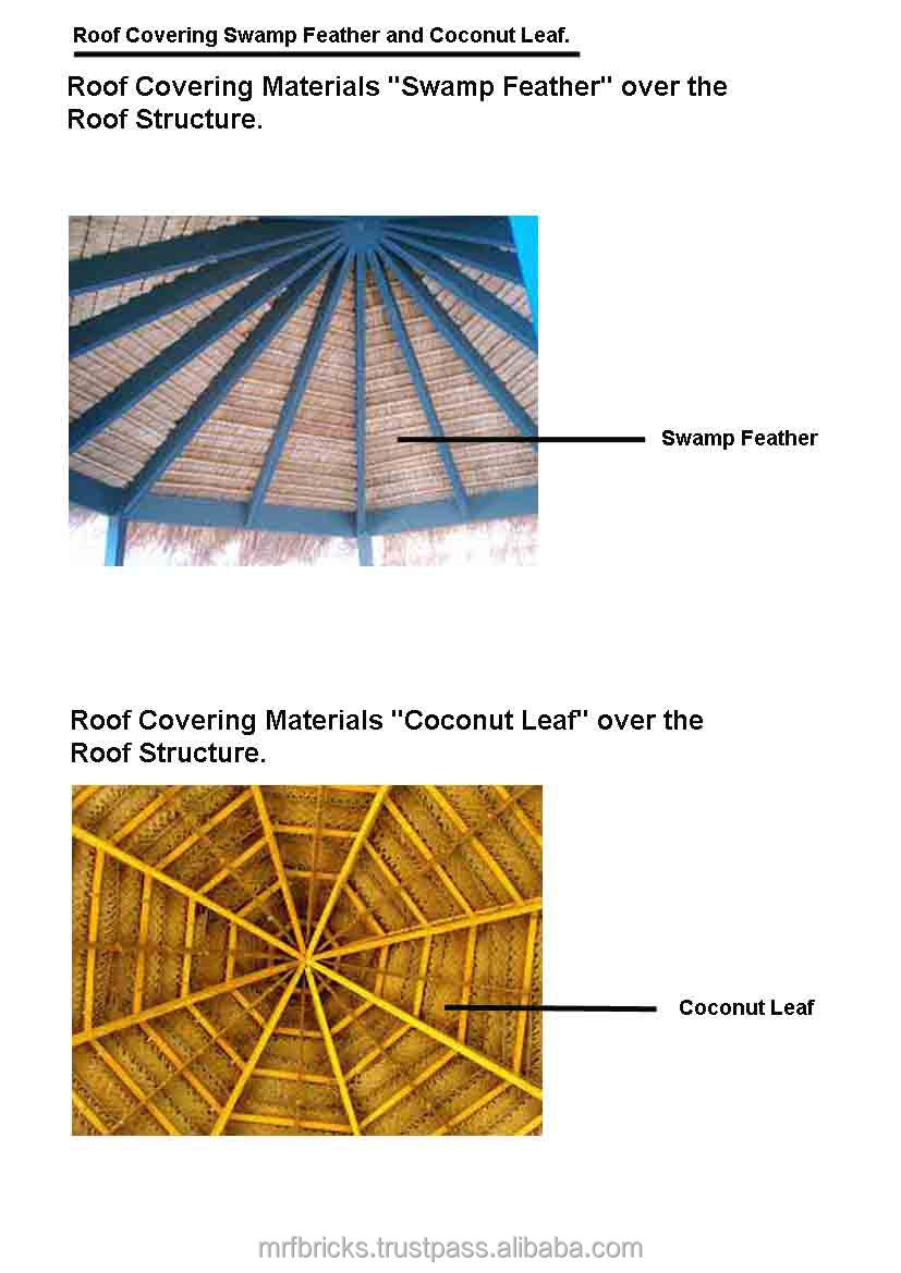 Thatched roof cottage house plans buy thatched roof for Roof covering materials