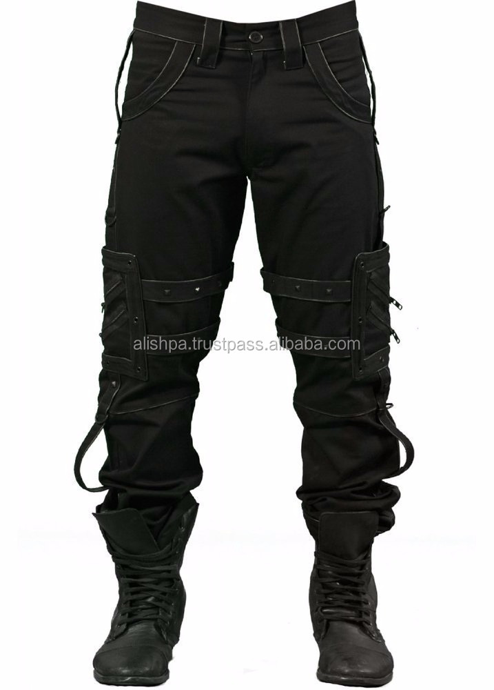 Dead Threads Droid Gothic Punk Heavy Metal Men's Bondage Pants Black