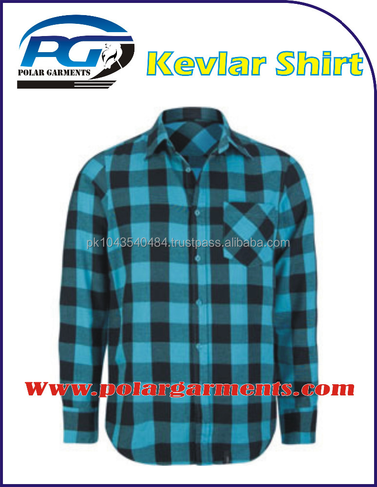 Soft Cotton flannel check Kevlar Shirt