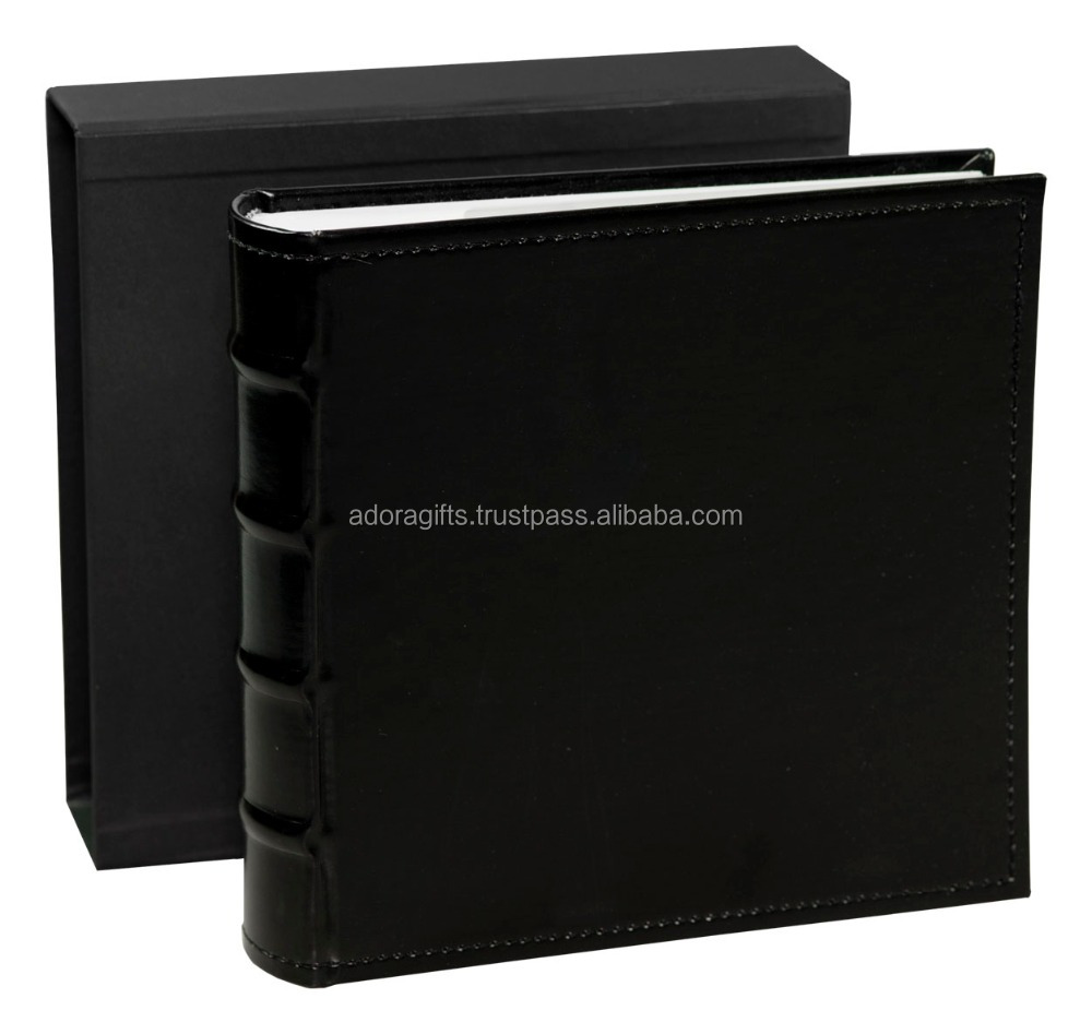 Unique design wedding photo album cover / luxury leather photo album case / perfect photo book album with leather cover