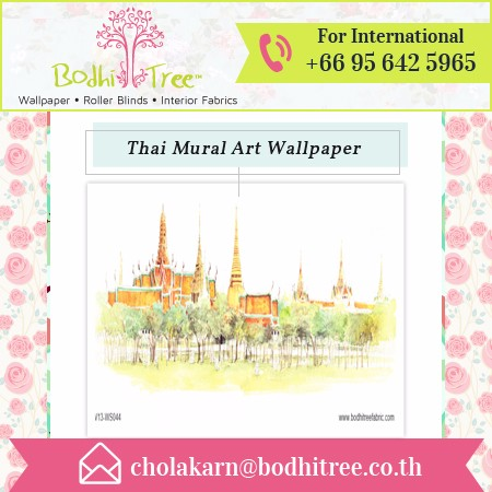 2017 Latest Designed, Eco Friendly Thai Mural Wallpaper from International Dealer