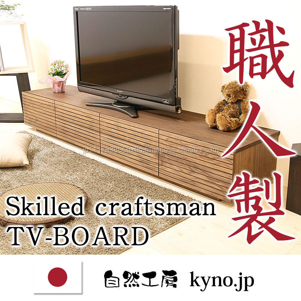 Well designed authentic living room furniture LED TV stand made of solid wood