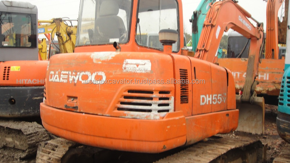 DH55 doosan daewoo excavator for sale, also DH150LC-7,DH220LC for sale