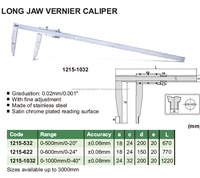 Long Jaw Vernier Caliper with fine adjustment