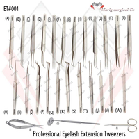 Top Quality Satin Eyelash Extensoin Tweezers / Russion Volume Extension / High Precision Professional Series Eyelash Tweezers