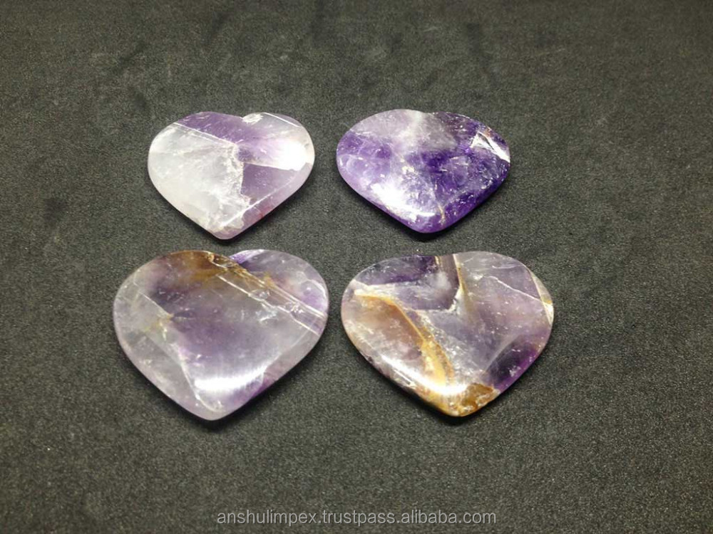 Wholesale Amethyst flat hearts, stone hearts, flat hearts, crystal hearts, wholesale lot.