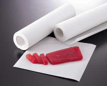 Handheld and Powerful young yellowtail cooking paper