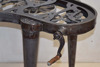 steam punk gear crank table kidney desk