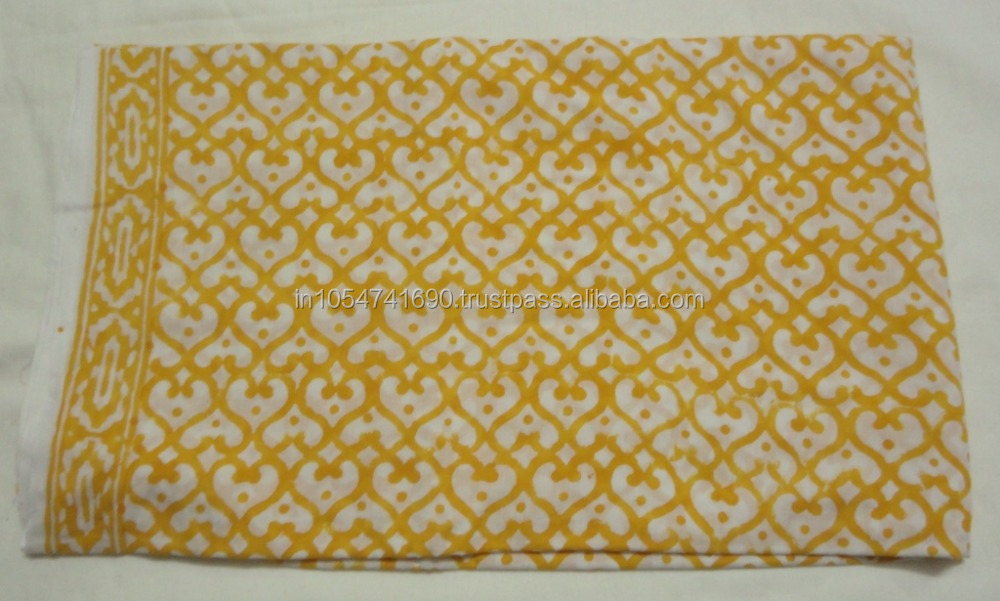INDIAN HAND BLOCK PRINTED 100% COTTON FABRIC IN FLORAL AND ANIMAL PATTERN PRINT FABRIC MANUFACTUIRER INDIAN