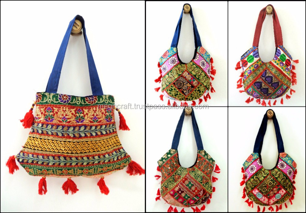 Wholesale Vintage Patchwork jhola Bag-Indian handmade patchwork handbag/Traditional side bag/Collage girl cross body bag/handbag
