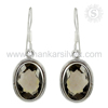 Interesting Smoky Quartz Jewelry Set Earring Wholesale Indian Silver Jewelry Online Supplier