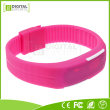 New design silicone chocolate watch, lady watch with big number, men sport digital watch