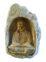 Indonesia Wood Fossil Buddha Statue, Sculpture