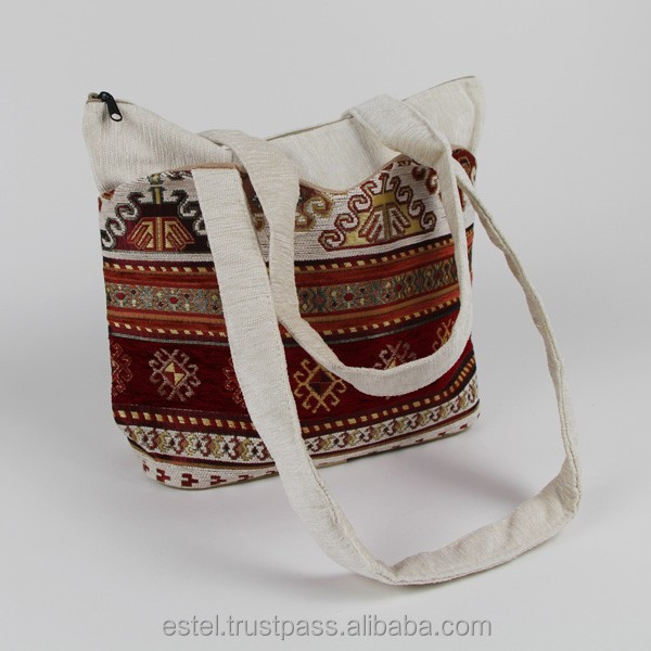 New Fashion shoulder bags for ladies red and cream E100055