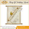 Mesmerizing Scroll Invitation Card With Imported Metallic Sheet Box Envelope