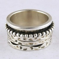 Beautiful Hammer Design 925 Sterling Silver Ring, Silver Jewelry Exporter, Online Silver Jewelry