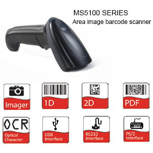 MS5100 USB/RS232&PS2 Handheld Images Barcode Scanner