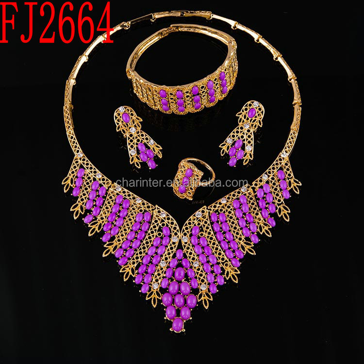 free shipping african jewelry set/ gold plated jewelry set/ costume african wedding jewelry set FJ3069