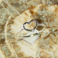 SIMPLE HEART 925 SOLID STERLING SILVER AMAZING RING JEWELLERY FOR WOMEN