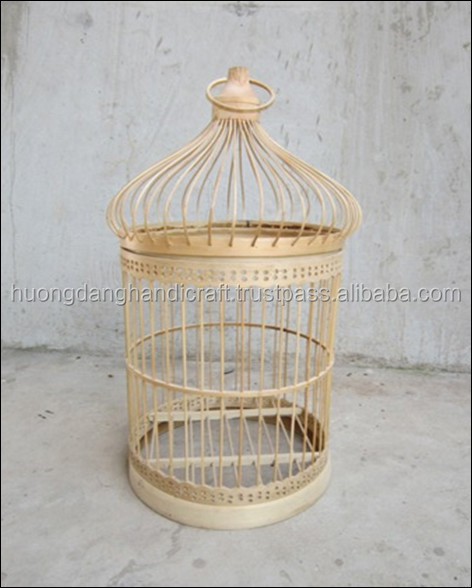 small pet cage use at home, natural bamboo bird cage, high quality handicraft bird cage