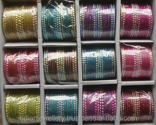 Indian jewellery glass bangle - festive bangles manufacturer exporter
