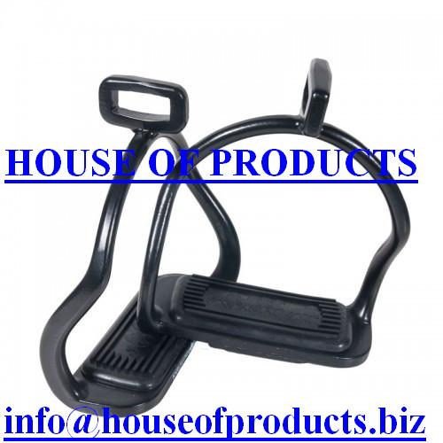 Aluminum Icelandic Safety Stirrups Black Color available in all colors