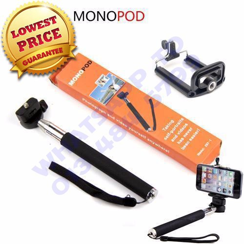 Monopod Selfie Sticks + Bluetooth Shutter