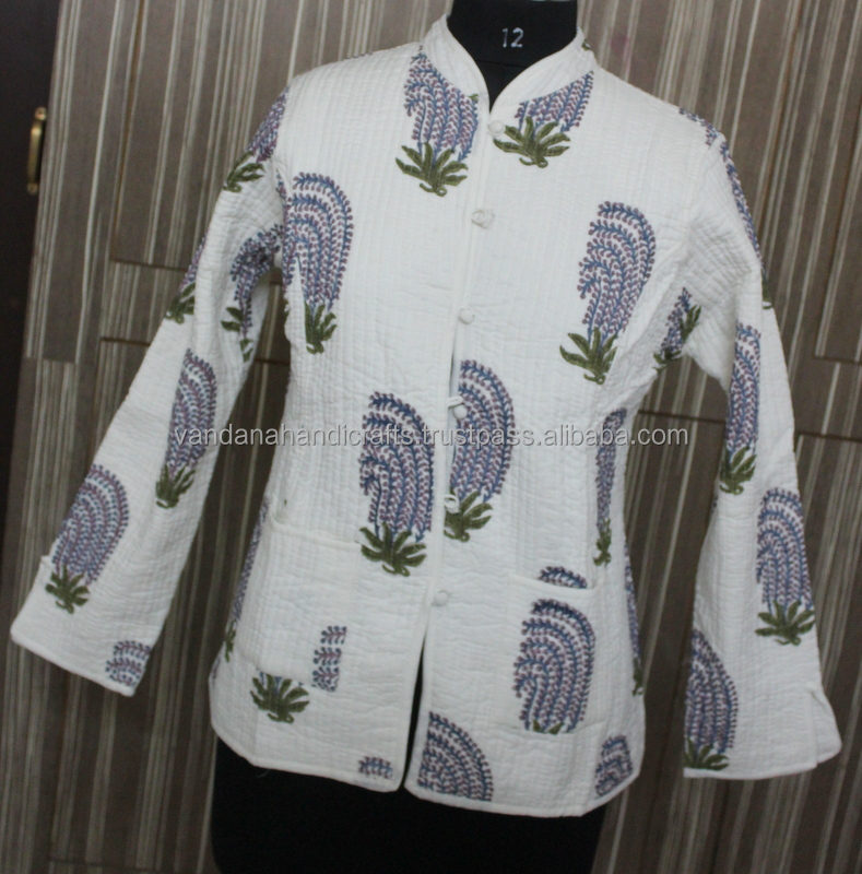 High Fashion Real For women vintage Afgani Cotton Kantha Work jackets