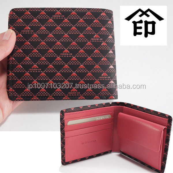 Famous and High quality genuine stingray skin wallet with Functional made in Japan
