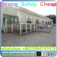 Good news! manufacturing easy to install and transport 4ftx4ft moving portable stage/aluminum stage for event activity