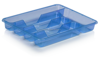 Plastic Dish Rack Cutlery Drainer Small Transparent Blue