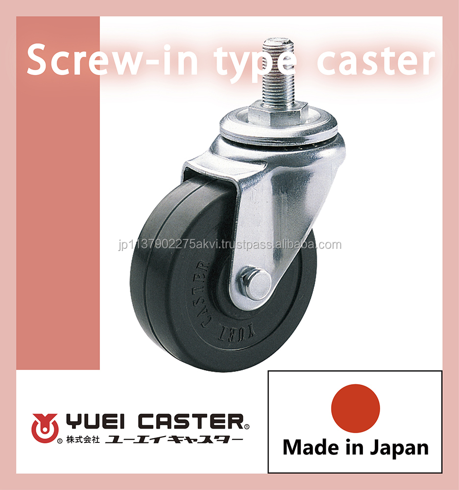 Durable and Easy to move 4inch furniture casters rubber wheels with multiple functions made in Japan