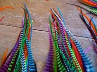 SLIM LONG GRIZZLY ROOSTER FEATHERS FOR HAIR EXTENSION