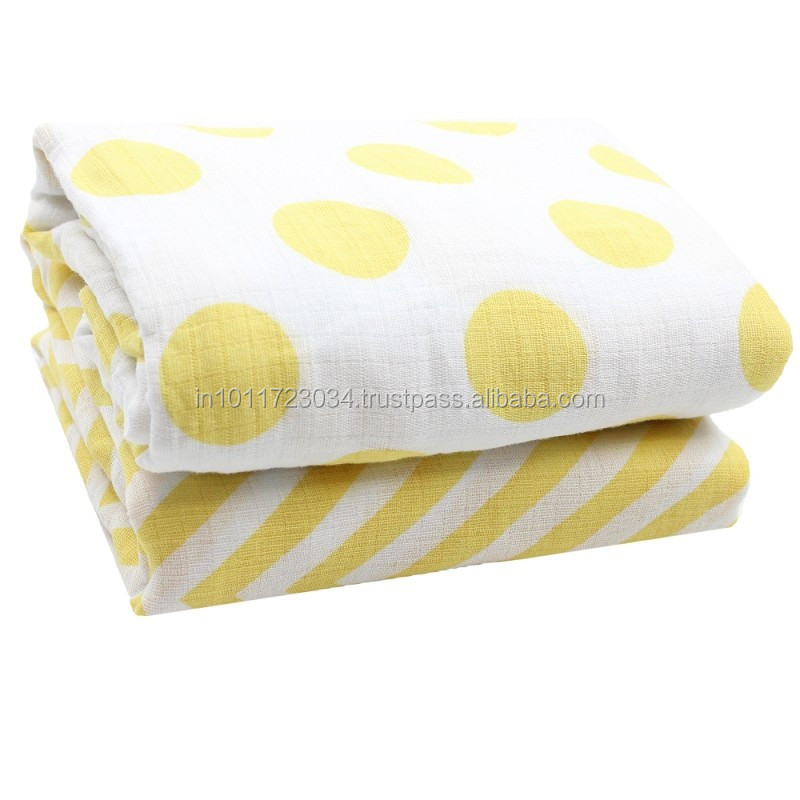 Personalized cotton muslin swaddle blanket