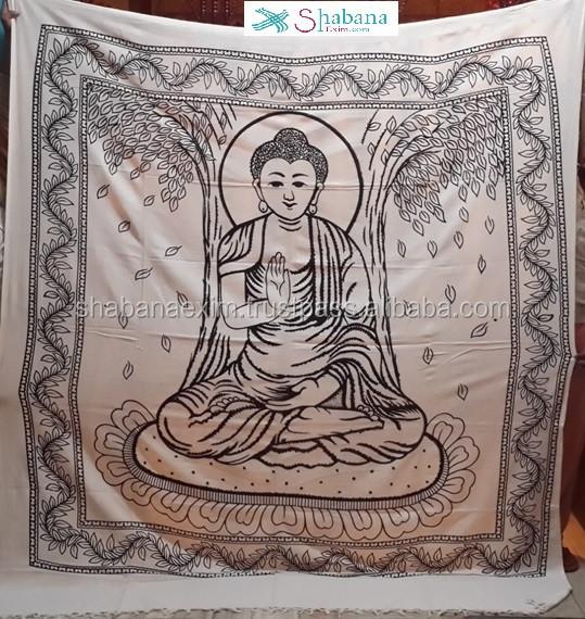 Buddha Tapestry Wall Hangings buddha 100% cotton wall hanging tapestry buddhist siddhartha god