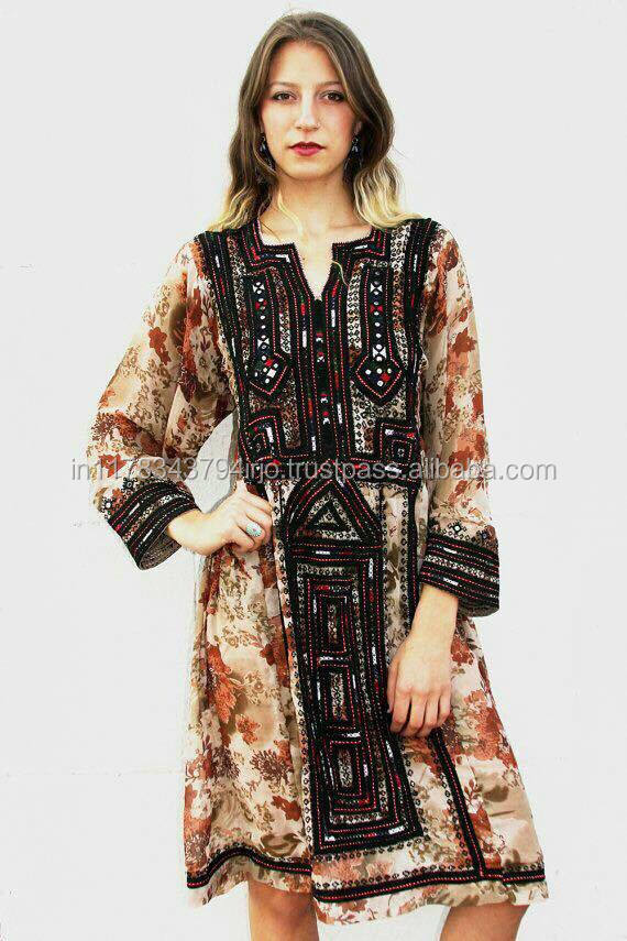 HANDICRAFT BANJARA TRADITIONAL EMBROIDERY VINTAGE LATEST DESIGNER BALUCHISTAN STYLES ETHNIC DRESS