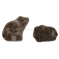 Animal Shape Vintage Wood and Metal Canvas Printing Blocks Decorative Art Craft WB-1330