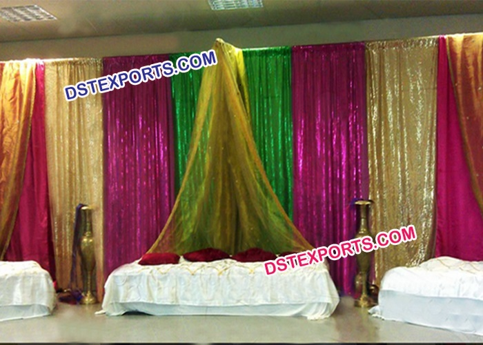 Colorful Sequins Lacing Backdrop
