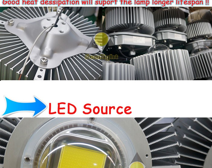 LED industrial 250W high bay light fixture warehouse facotry stadium lamp