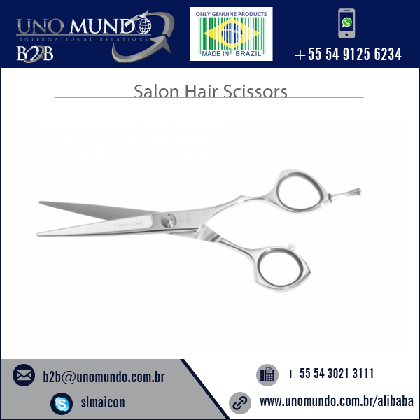 Widely Used Excellent Grade Salon Hair Cutting Scissor with Silicon rings
