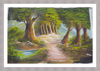 handmade scenery paintings / room scenery painting / handmade scenery picture