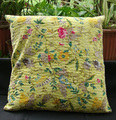 Assorted elegant Tropicana fruitprint Kantha Cushion cover pillow cover manufacturer from jaipur