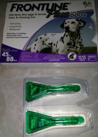 Merial Frontline Plus for Large Dogs ( 45-88lbs) From France