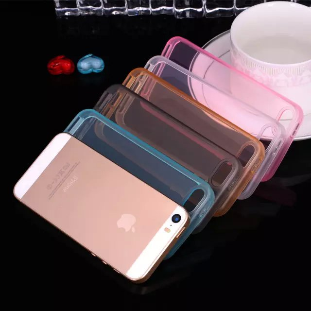 Super Flexible Ultra thin TPU Transparent phone back cover for iphone 5s