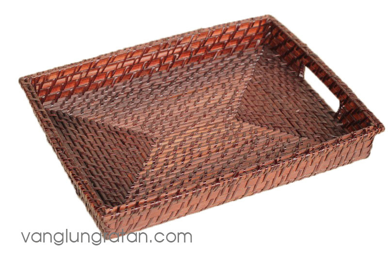 Cheap Bamboo Rattan Serving Tray
