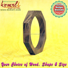 Hexagonal wooden bangle jewellery finished unfinished wooden bangles