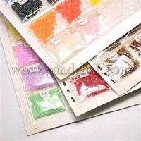 24Bag/Board Mixed Color Two Cut Glass Seed Beads, Mixed Color, 2~3mm, Hole: 0.8~1mm SEED-P001-04
