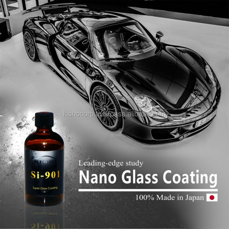 Durable anti dust paint KISHO hydrophobic glass coating for car made in Japan